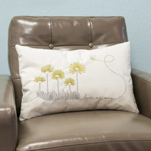 Bee and flower pillow | Orange Tree Project