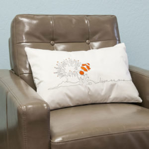 Fish and anemone pillow | Orange Tree Project