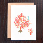 Coral Fan with Seahorse Greeting Card | Orange Tree Project