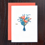 Coral Bouquet Greeting Card | Orange Tree Project