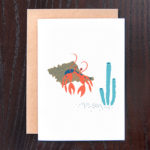 Hermit Crab Greeting Card | Orange Tree Project