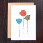 Puffer Fish Balloons Greeting Card | Orange Tree Project