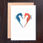 Seahorse Heart Greeting Card | Orange Tree Project