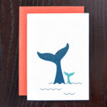 Whale with Child, Kid, Baby Greeting Card | Orange Tree Project