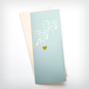 Heart leaf on branch card | Orange Tree Project