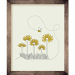 Bees & Daisies 8 x 10 Print | Orange Tree Project