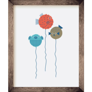 Puffer Fish Balloons 8 x 10 Print | Orange Tree Project