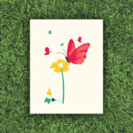 Butterfly with Gnome, Garden, Flower, Plant | Orange Tree Project