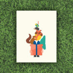 Friends with Gifts, Gnome, Squirrel, Hedgehog, Worm, Acorn, Box, Present | Orange Tree Project