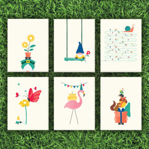 Garden Party Card Set of 6 | Orange Tree Project