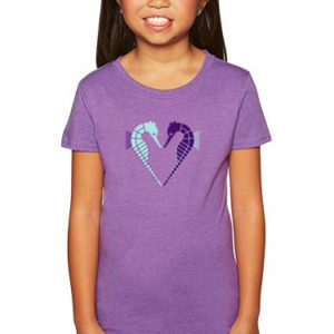 Seahorse Heart Girl's Tee, Youth Size | Orange Tree Project