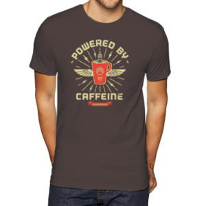 Powered By Caffeine Tee | Orange Tree Project