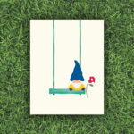 Swing With Me, Gnome, Flower, Garden | Orange Tree Project